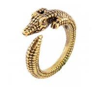Žiedas Krokodilas bronzos spalvos; universalaus dydžio