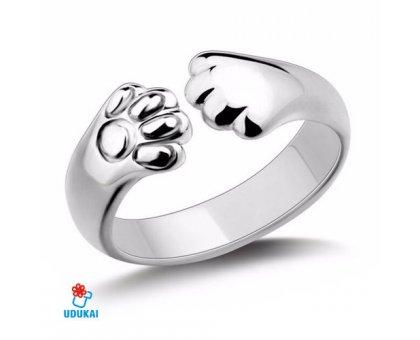 Žiedas Letenėlė; sidabro spalvos