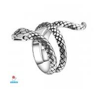 Žiedas Gyvatė; 18, 19, sidabro spalvos