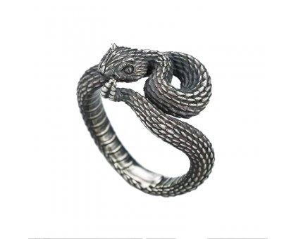 Žiedas Vipera lebetina sidabro spalvos, universalaus dydžio