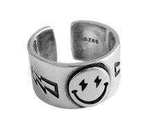 Žiedas Šypsena sidabrinė; universalaus dydžio